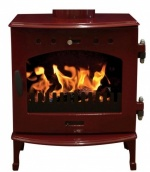 Carron Red Enamel 4.7kW DEFRA Smoke Exempt Multifuel Stove